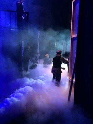 Stage lighting and fog machine